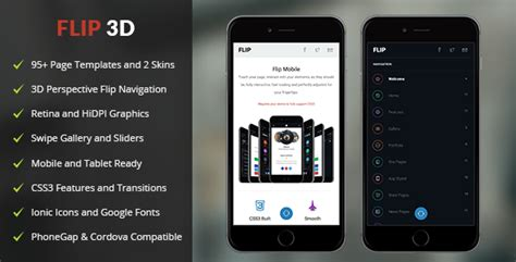 Flip 3d Phonegap Cordova Mobile App By Enabled Codecanyon Cordova Mobile App Template