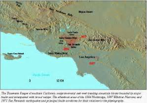 southern california mountain ranges map mountin building