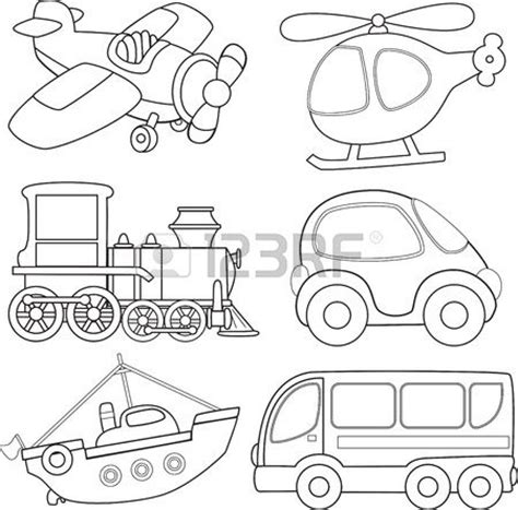 transportation coloring pages pdf 1000 images about transportation silhouettes vectors