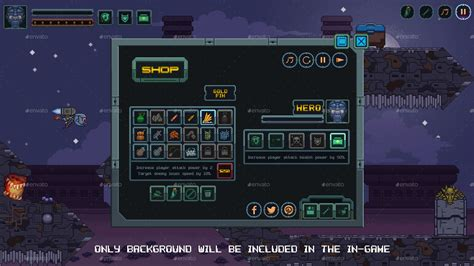 pixel game gui pack  animated icons buttons