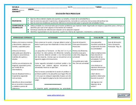planeaciones sep primaria 2016 gratis pdf planeaciones de educacion fisica para preescolar con