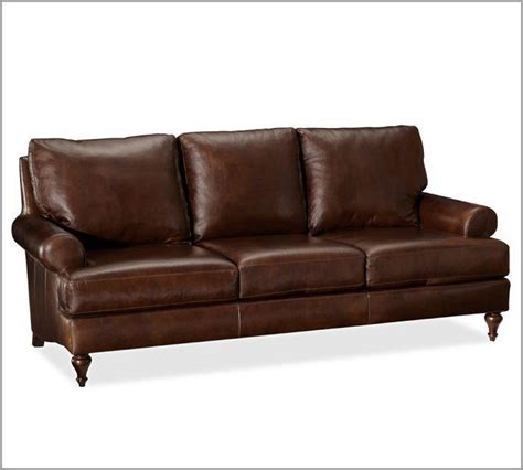 leather sofa pottery barn from pottery barn my home