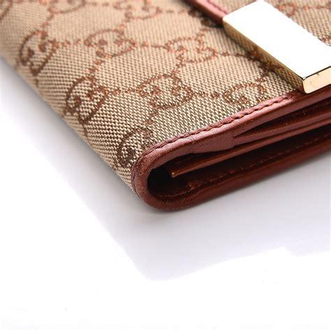 Gucci Wallet Bronze gucci monogram continental wallet bronze 208825