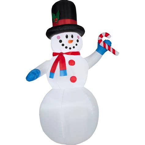 walmart snowman 11 airblown mickey in santa suit prop