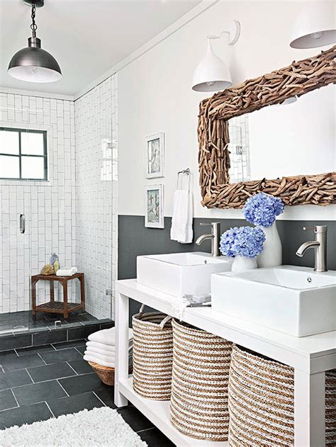 Scandinavian Farmhouse Design by Neutral Color Bathroom Design Ideas