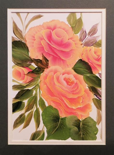Cabbages Roses New Website by 1000 Images About One Stroke Painting On One