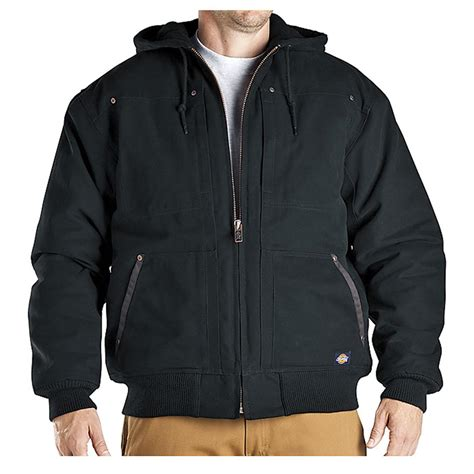 Jaket Reg regular dickies 174 hooded duck jacket 215032 insulated jackets coats at sportsman s guide