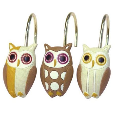 Owl Shower Curtain Hooks by Owl Barn Owl Shower Curtain And More