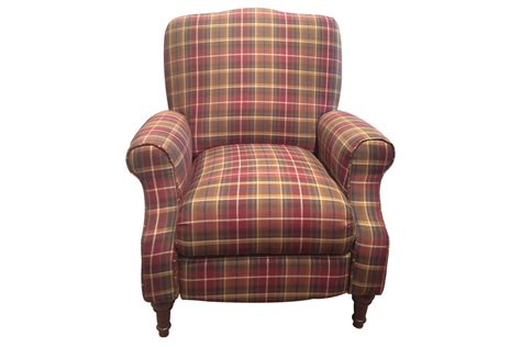 Accent Recliner by Dory Plaid Accent Recliner