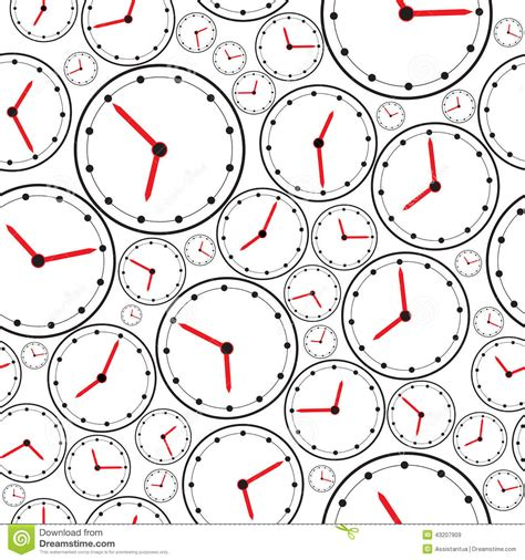 clock layout vector seamless the clock pattern for background vector stock