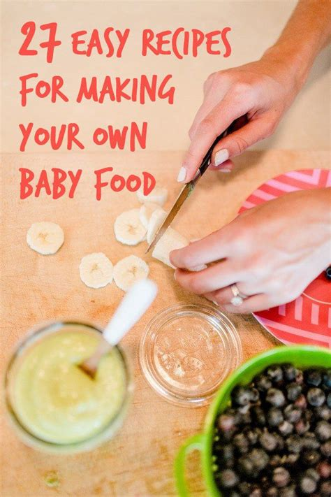 Two Simple Home Made Aids For Your by 27 Easy Diy Baby Foods Baby Food Recipes Baby