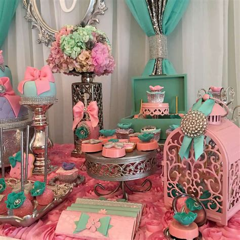 baby shower decorations teal and pink modern chic baby shower baby shower ideas