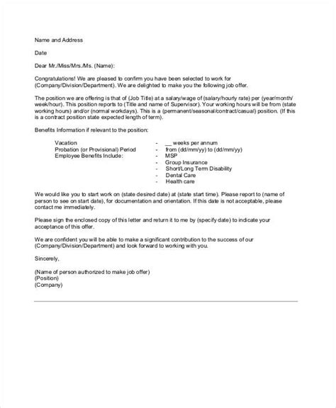 appointment letter citehr 49 appointment letter exles sles pdf doc