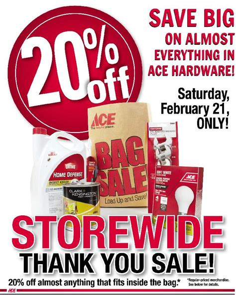 Ace Hardware Gift Card For Sale - ace hardware bag sale 20 off almost anything food city supermarkets el paso texas