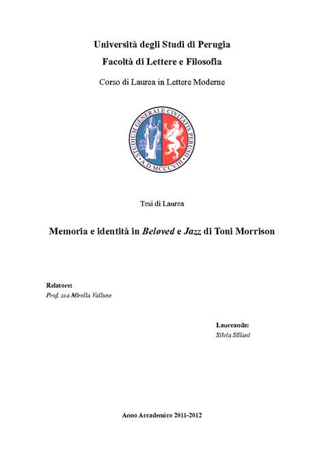 tesi lettere moderne universit 224 degli studi di perugiafacolt 224 di lettere e