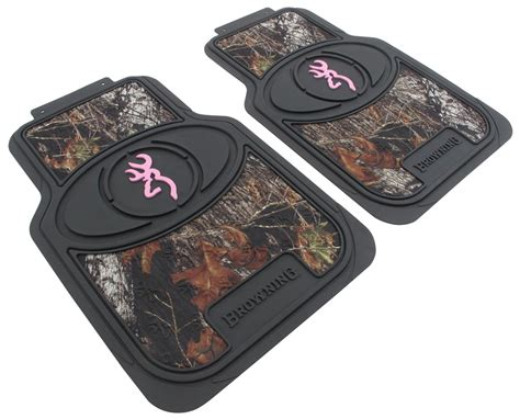Browning Pink Floor Mats by Browning For Buckmark Universal Fit Vehicle Floor Mats