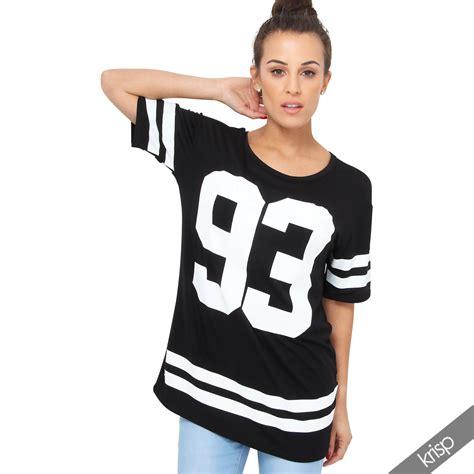 Tunik Jacket By Mlb 1 womens american college print t shirt tunic top baseball