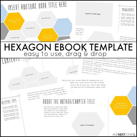 Hexagon Ebook Template And Next Comes L Microsoft Publisher Photo Book Templates