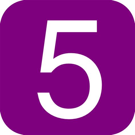 purple rounded square with number 5 clip art at clker