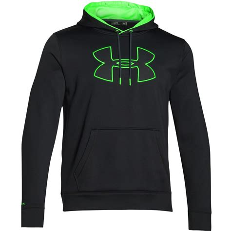 Hoodies Ua Logo 2 armour 2016 ua armour fleece big logo hoody mens jumper hoodie ebay