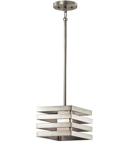 modern pendant lighting kichler 43688ni realta contemporary brushed nickel halogen