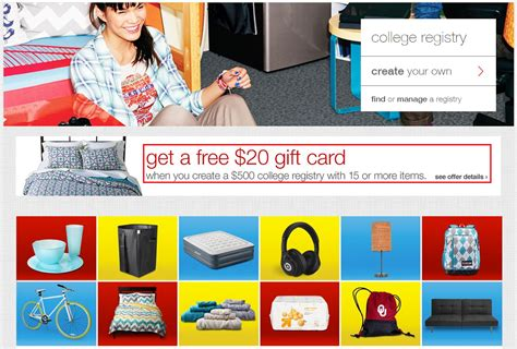 Target Registry Gift Card - free 20 target gift card for creating a 500 college registry