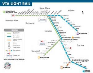 San Jose Vta Map by Vta Light Rail Anthony Nachor