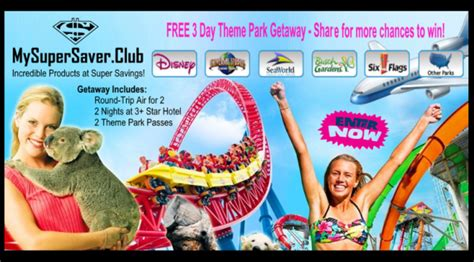 Theme Park Sweepstakes - enter online sweepstakes for free giveawayfrenzy