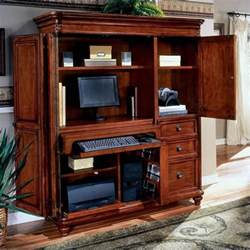 Laptop Armoire Desk Dmi Antigua Wood Computer Armoire In Cherry 7480 75