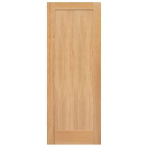 Home Depot Wood Doors Interior Masonite 30 In X 84 In Unfinished Fir Veneer 1 Panel Shaker Flat Panel Solid Wood Interior