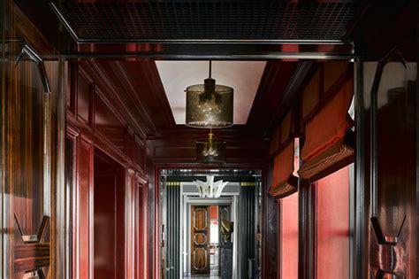 art deco red  black interior design transformative