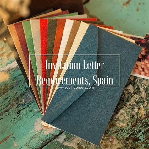 Invitation Letter For Visa Indonesia Invitation Letter Requirements Spain Ada Indonesia