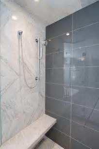 Back wall of shower in glass tile by interceramic interglass in color