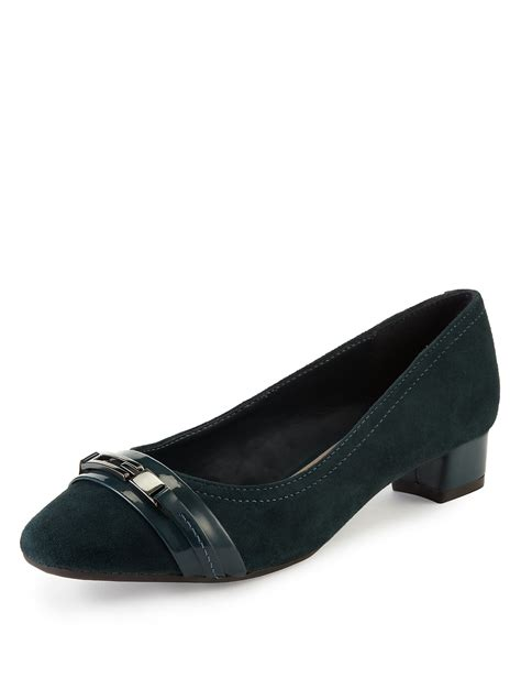 Footglove Black Suede Leather Court Shoes Heels suede skirt price comparison results