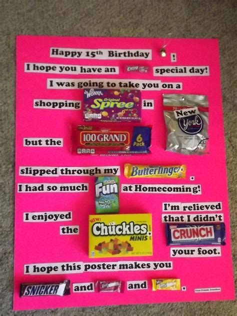this is a poster card i made for my boyfriend for 25 best candy bar posters ideas on pinterest candy bar
