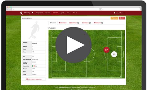 Football Scout Card Template by Lfscouting New Professional Scouting Software For