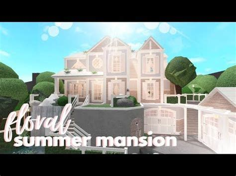 bloxburg floral summer mansion house build youtube