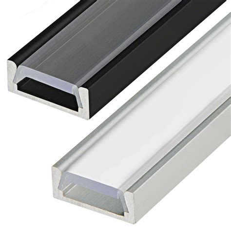 Lighting Strips Fixtures Low Profile Surface Mount Led Profile Housing For Led Lights Anodized Aluminum Micro Alu