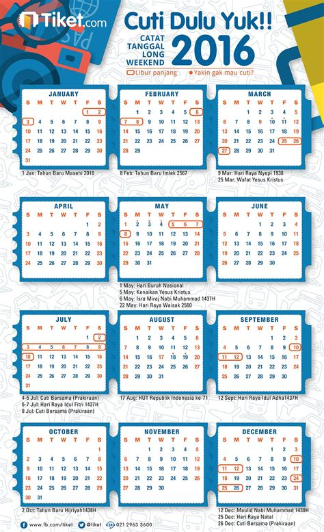 Kalender 2018 Dan Tanggal Merahnya Kalender Cuti 2016