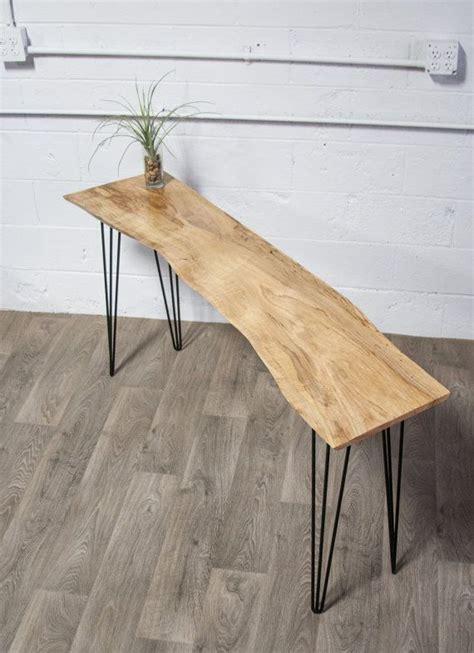 live edge sofa table legs new live edge maple console table wood