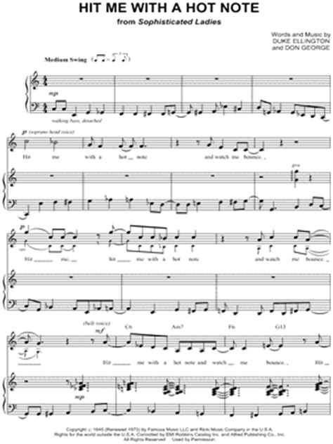 hit me with a hot note musical terri klausner quot hit me with a hot note quot sheet music