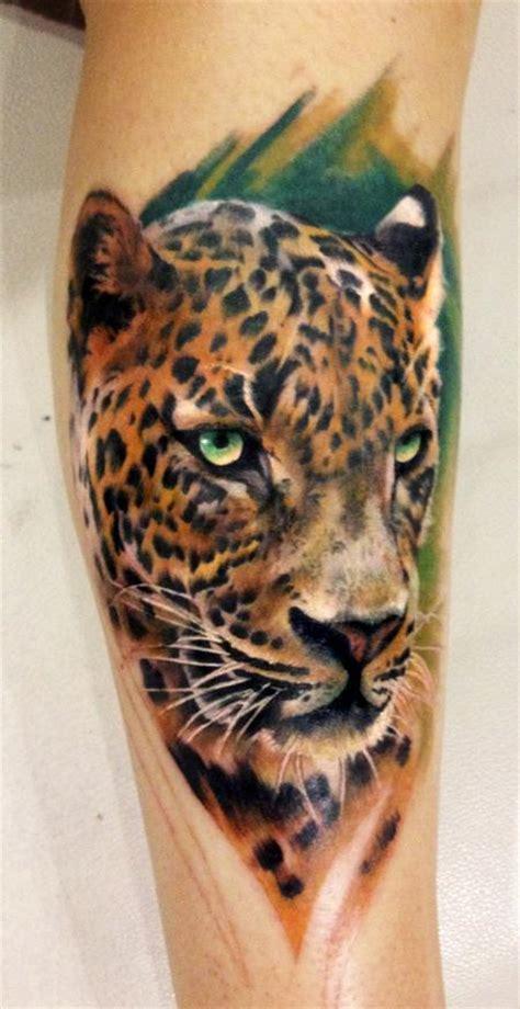 leopard tattoo images designs color leopard tattoo by dean lawton tattoonow
