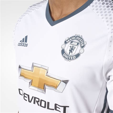 Promo Jersey Manchester United Third 2016 2017 Terlaris adidas manchester united 3rd mens adizero jersey 2016 2017 in white excell sports uk
