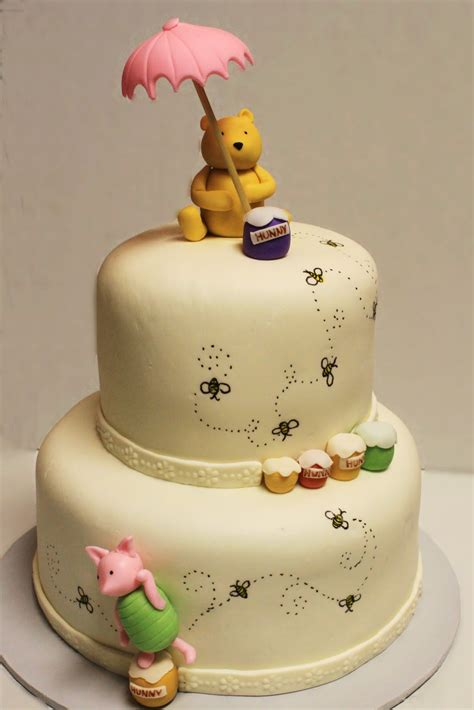 Pooh Baby Shower Cakes by Layers Of Winnie The Pooh Shower Cake