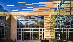 Vision Office Interiors Page Floats A Cedar Sunshade In Albuquerque Page