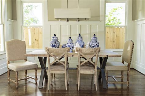 french country wood furnishings  rustic dining room