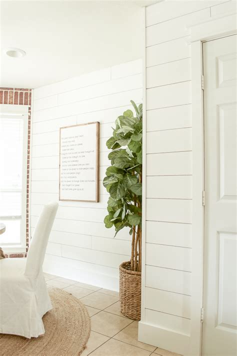 Shiplap Walls: The Cheap & Easy Way   Little Red Brick House