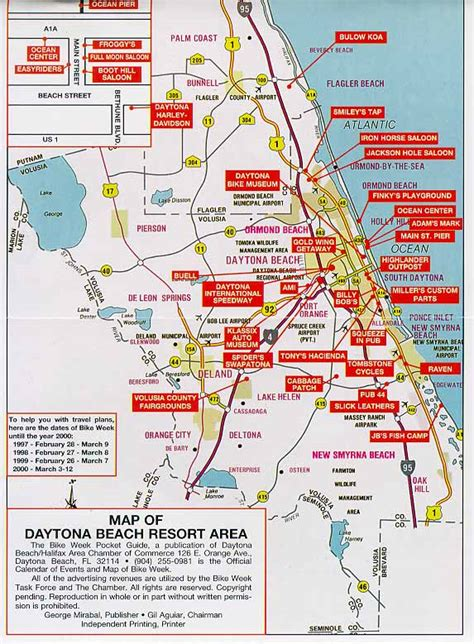 map daytona florida daytona bike week map