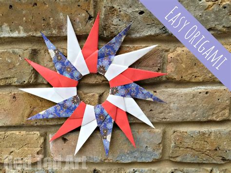 How To Make A Origami Wreath - easy origami paper wreath ted s