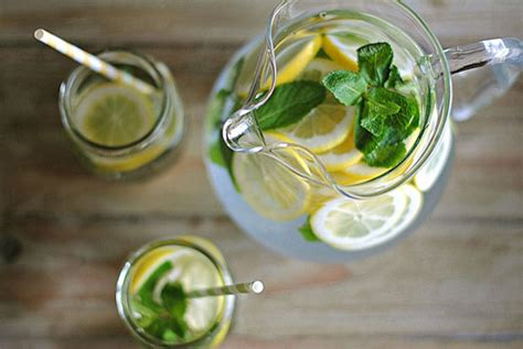 Lemon And Lime In Water Detox by Detox Water With Lemon Lime Cucumber Mint